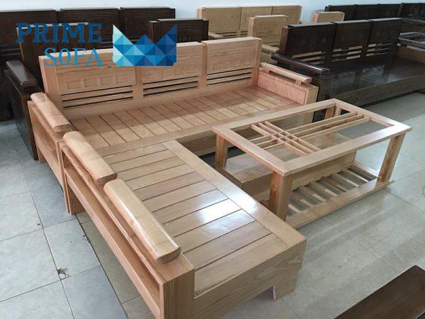 sofa go so nga tu nhien 600x450 - Sofa gỗ sồi nga tự nhiên