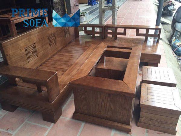 sofa go tu nhien PMS001 600x450 - Sofa gỗ tự nhiên PMS 001