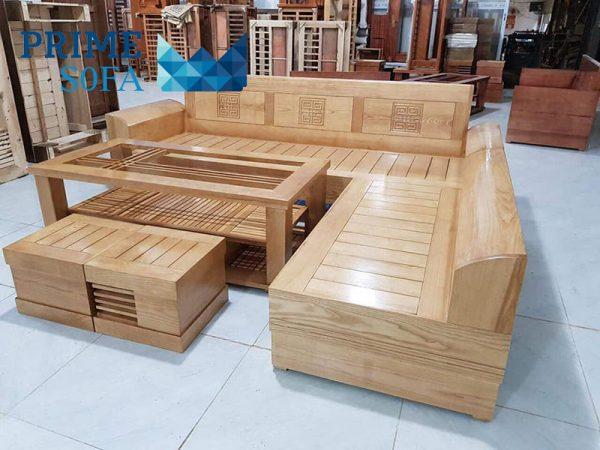 sofa go tu nhien PMS003 600x450 - Sofa gỗ tự nhiên PMS 003