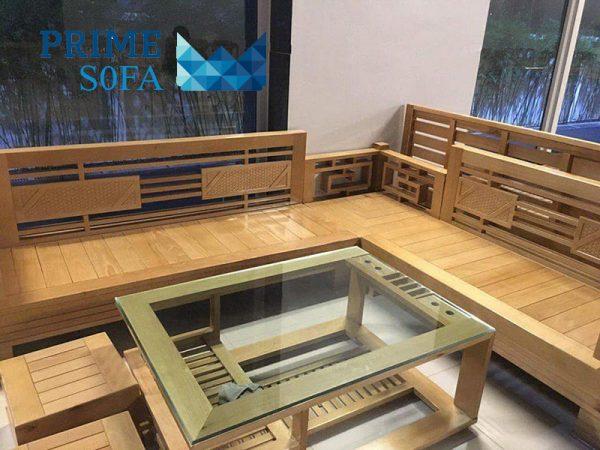sofa go tu nhien PMS004 600x450 - Sofa gỗ tự nhiên PMS 004