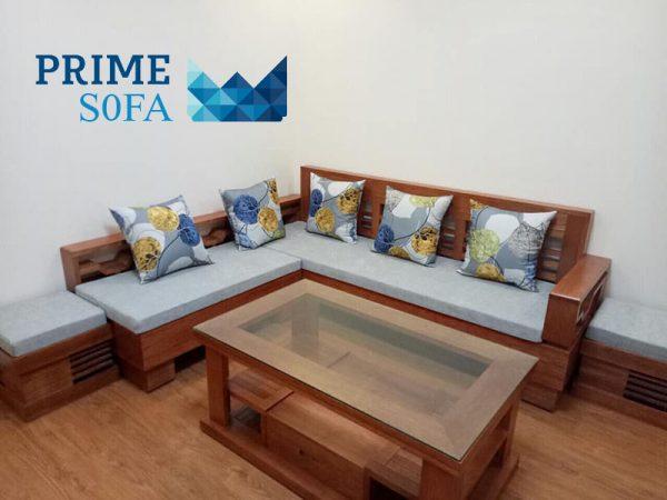 sofa go tu nhien boc ni PMS003 600x450 - Sofa gỗ tự nhiên bọc nỉ PMS 003