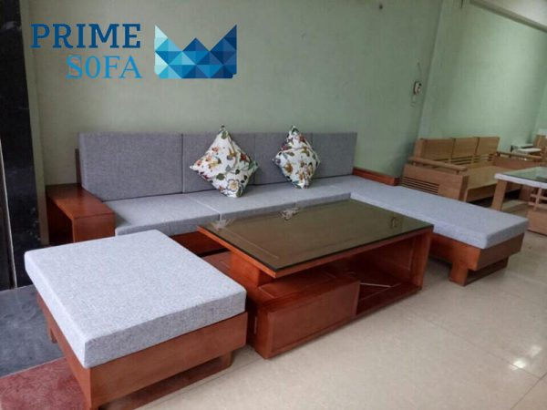sofa go tu nhien boc ni PMS005 600x450 - Sofa gỗ tự nhiên bọc nỉ PMS 005