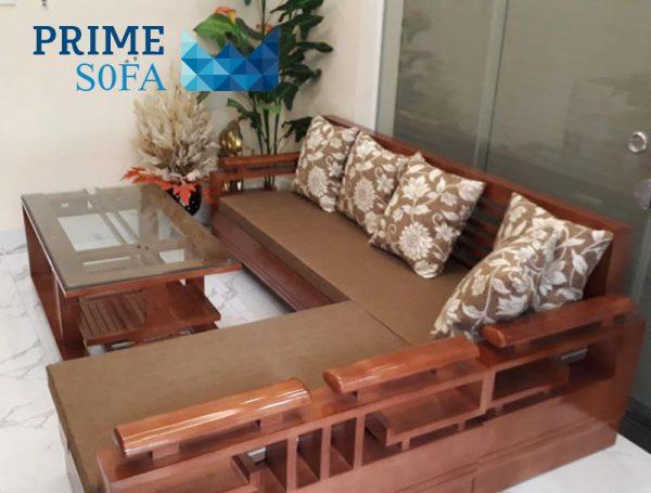 sofa go tu nhien boc ni PMS006a 600x455 - Sofa gỗ tự nhiên bọc nỉ PMS 006