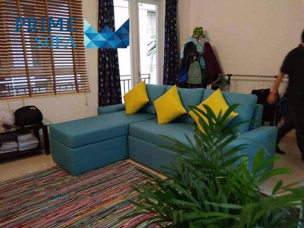 sofa goc boc ni PMS003 600x450 - Sofa góc bọc nỉ PMS 003