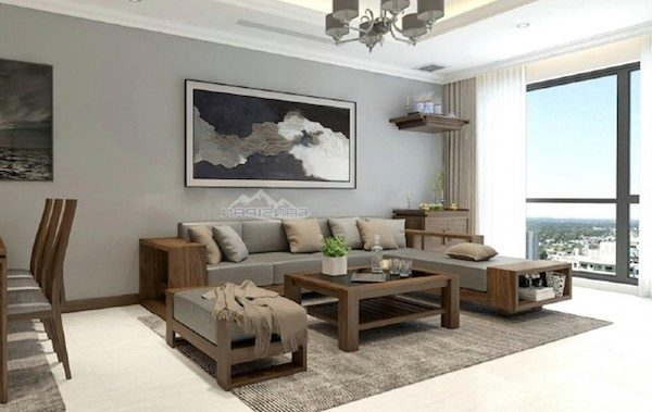 mau sofa go oc cho 600x379 - Sofa gỗ óc chó