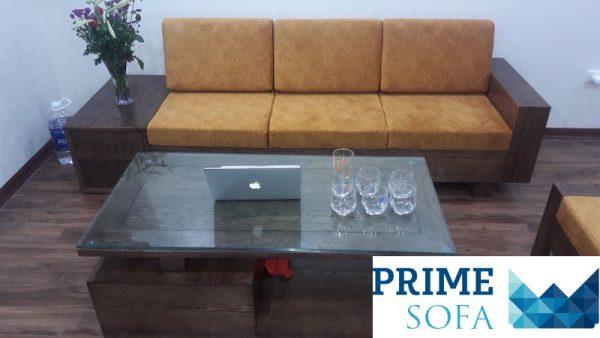 bo sofa go dep 2 600x338 - Bộ sofa gỗ 2.3m chị Thơm chung cư Tân Tây Đô