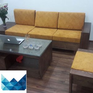 bo sofa go dep 3 300x300 - Bộ sofa gỗ 2.3m chị Thơm chung cư Tân Tây Đô