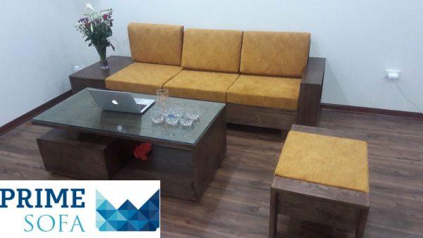 bo sofa go dep 3 600x338 - Bộ sofa gỗ 2.3m chị Thơm chung cư Tân Tây Đô