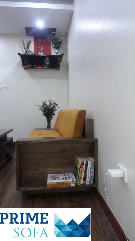 mau sofa go dep 6 - Bộ sofa gỗ 2.3m chị Thơm chung cư Tân Tây Đô