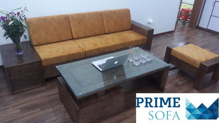 sofa go dep 1 711x400 - Bộ sofa gỗ 2.3m chị Thơm chung cư Tân Tây Đô