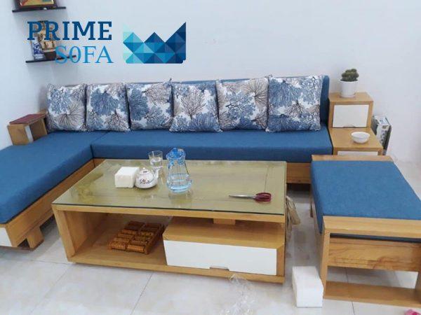 sofa go soi dem boc ni 600x450 - Sofa gỗ sồi đệm bọc nỉ