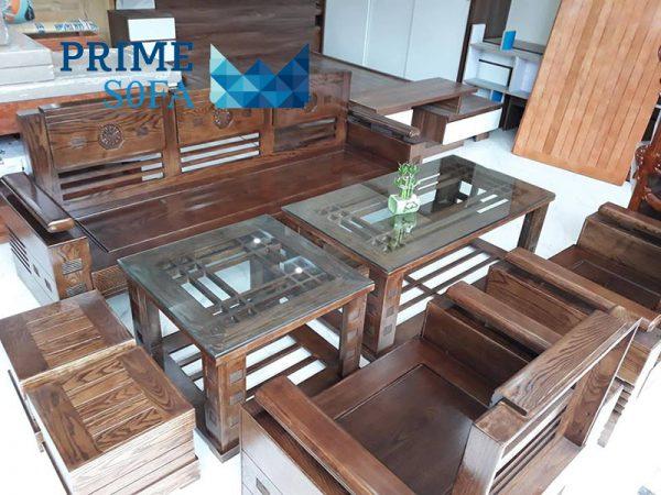 sofa go tu nhien PMS005 600x450 - Sofa gỗ tự nhiên PMS 005