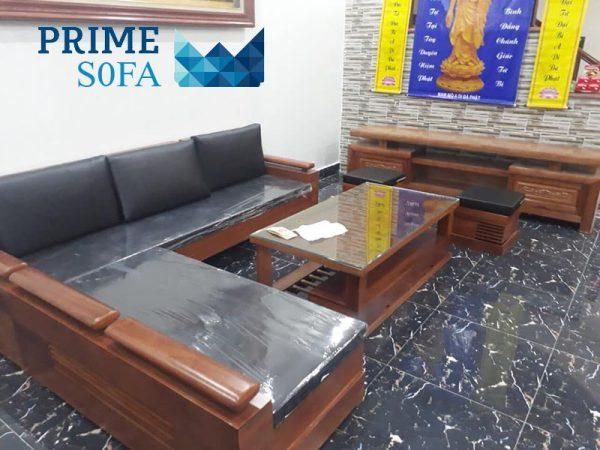 sofa go tu nhien boc da PMS001 600x450 - Sofa gỗ tự nhiên bọc da PMS 001