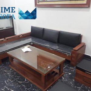 sofa go tu nhien boc da PMS002 300x300 - Sofa gỗ tự nhiên bọc da PMS 002
