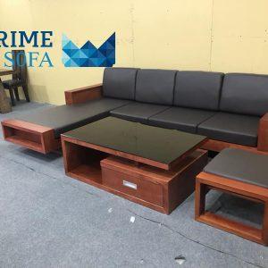 sofa go tu nhien boc da PMS003 300x300 - Sofa gỗ tự nhiên bọc da PMS 003