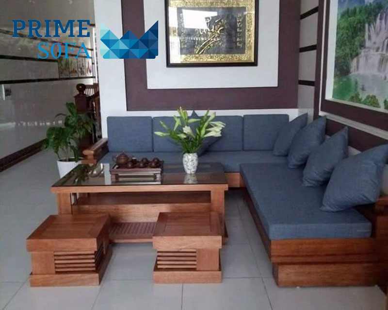 sofa go tu nhien boc ni PMS002 - Một số các mẫu sofa phòng khách từ 10 triệu