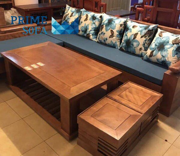 sofa go tu nhien boc ni PMS004 600x520 - Sofa gỗ tự nhiên bọc nỉ PMS 004