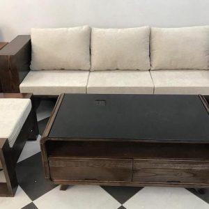 sofa go 300x300 - Bộ sofa gỗ góc đẹp kích thước 2m5 x 1m6