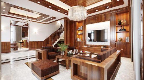 sofa go biet thu dep dang cap 600x334 - Bộ sofa gỗ biệt thự anh Thắng - Kinh Môn, Hải Dương