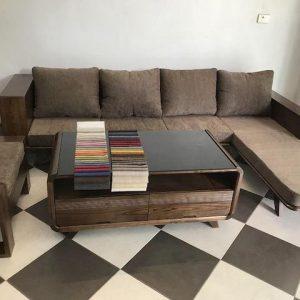 sofa go dep 300x300 - Bộ sofa gỗ góc đẹp kích thước 2m5 x 1m6