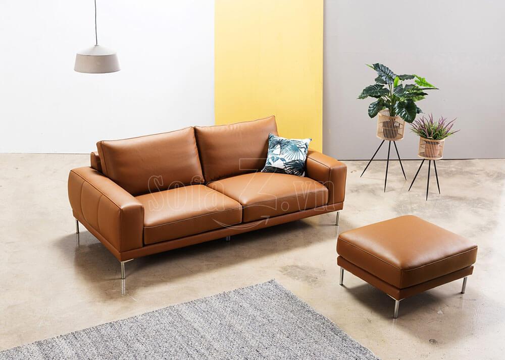 sofa vang phong khach don gian hien dai boc da 1  - Sofa da giá rẻ tại Hà Nội - Nguồn tin SofaZ.vn