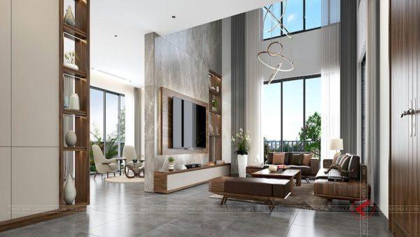 ban ghe phong khach go oc cho2 600x338 - Sofa gỗ óc chó biệt thự CIPUTRA