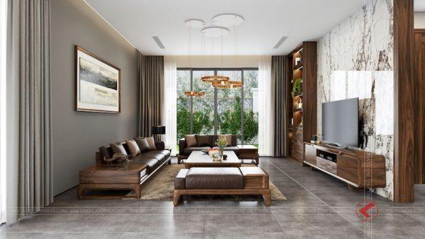 mau ban ghe go oc cho4 600x338 - Sofa gỗ óc chó biệt thự THE MANOR CENTRAL PARK