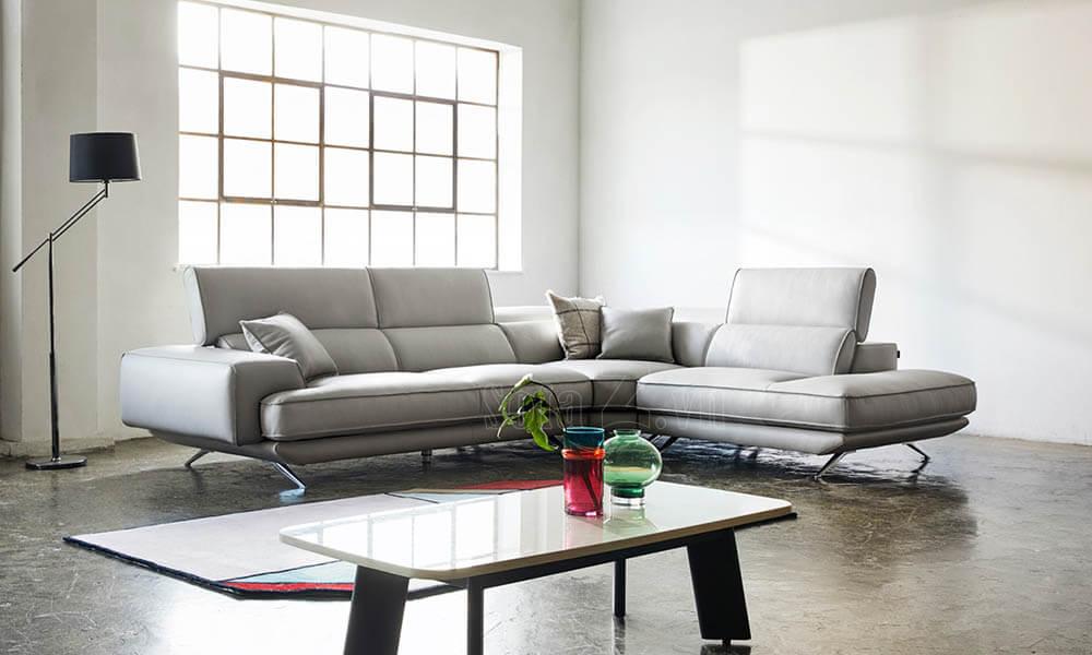 sofa goc hien dai sang trong boc da 4  - [Nguồn SofaZ] Sai lầm khi mua sofa phòng khách Hà Nội mà nhiều người mắc phải