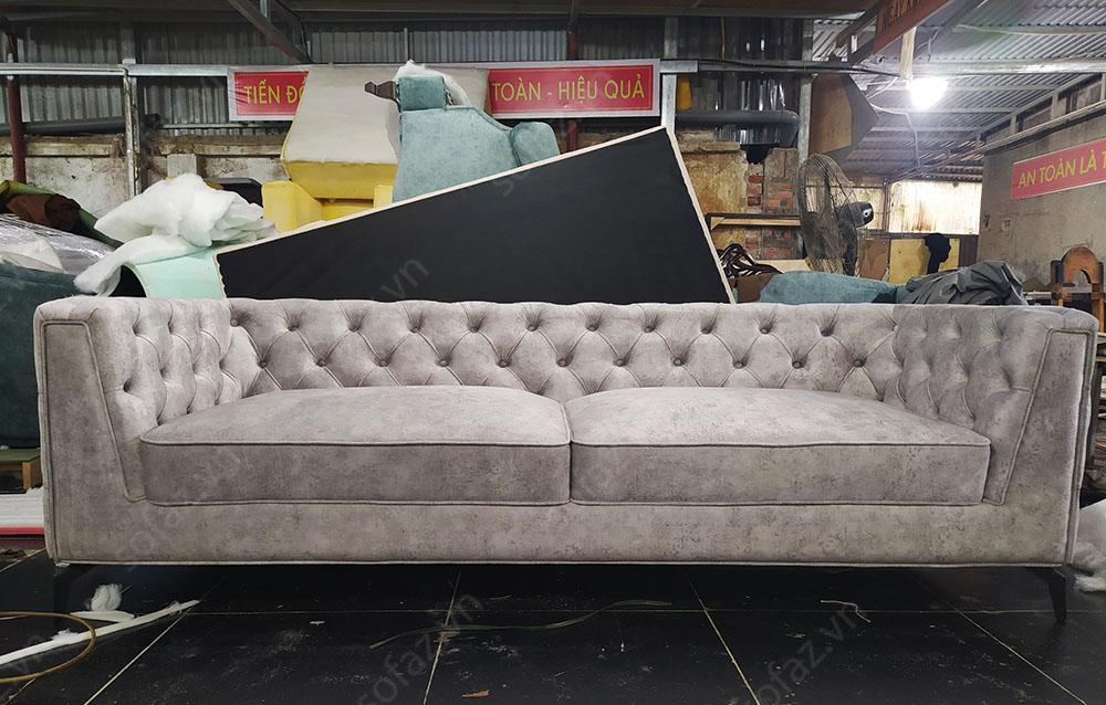 bo sofa phong khach tan co dien boc ni 6  - Những dòng ghế sofa phòng khách đang nổi trội trên thị trường 2021