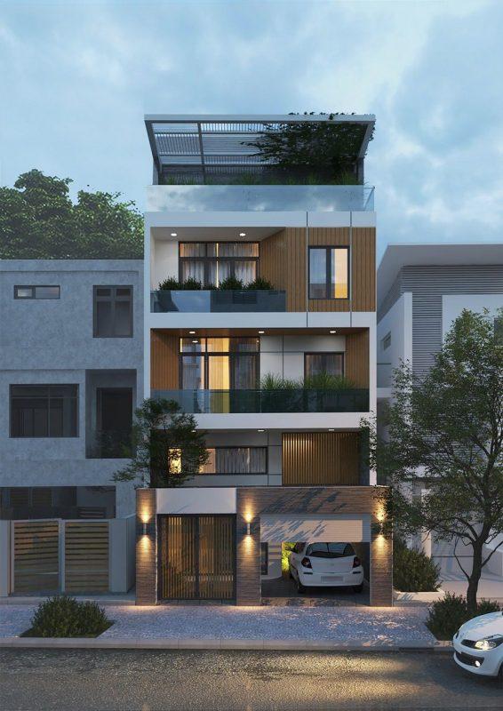 nha pho dep 1 tret 3 lau 566x800 - DecoFuni giới thiệu giải pháp thiết kế thi công nhà phố có tầng hầm